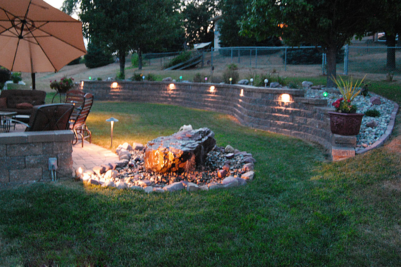 Landscaping Ideas For Backyard With Retaining Wall House Made Of